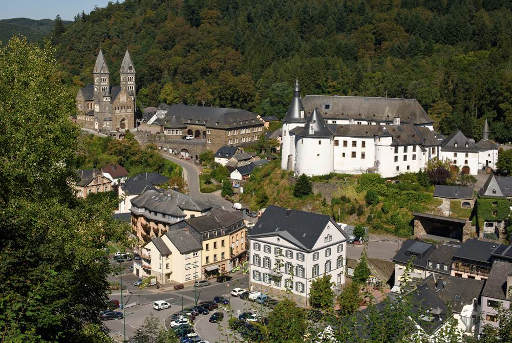 Overlooking the town of Clervaux, home of the Battle of the Bulge, Luxembourg