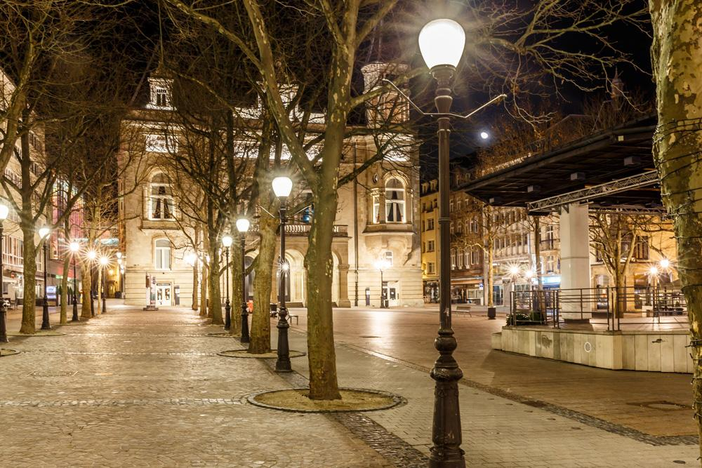 Place d'armes at night, Luxembourg City, Luxembourg