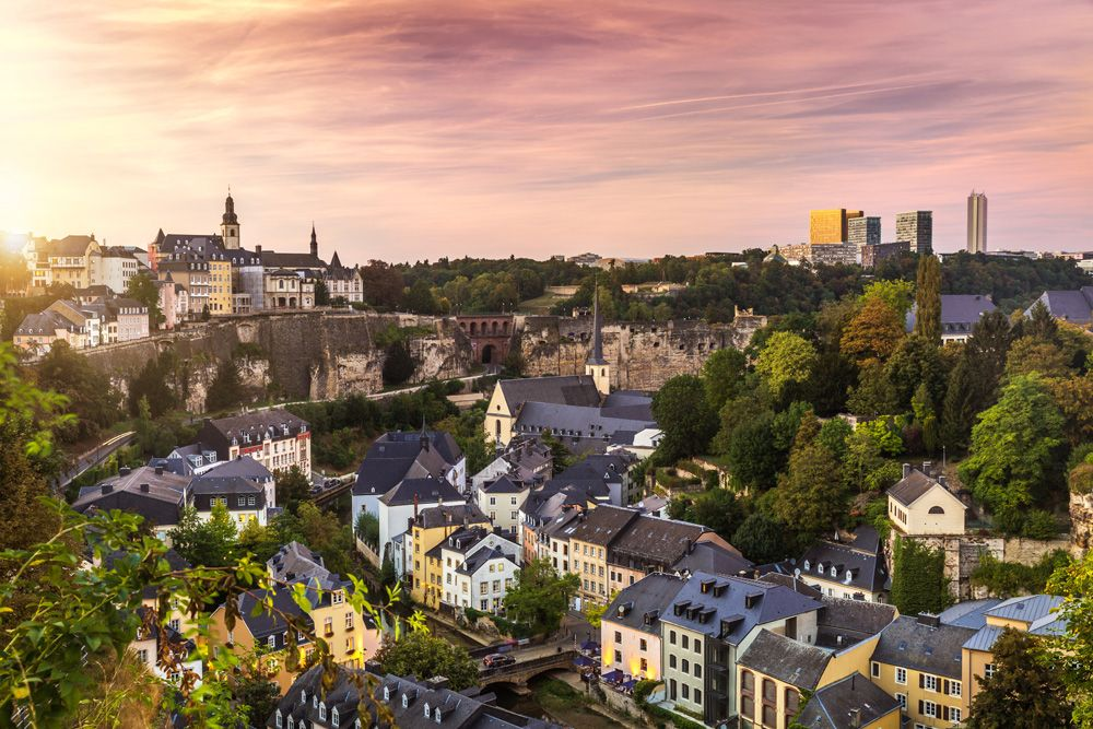 Skyline of City of Luxembourg, Luxembourg