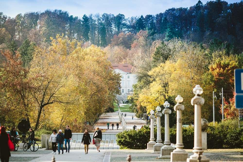 Tivoli Park in autumn, Ljubljana, Slovenia