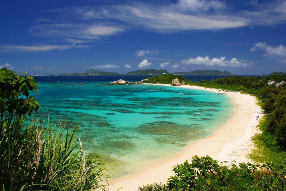 Tropical beach on Okinawa Island, Japan