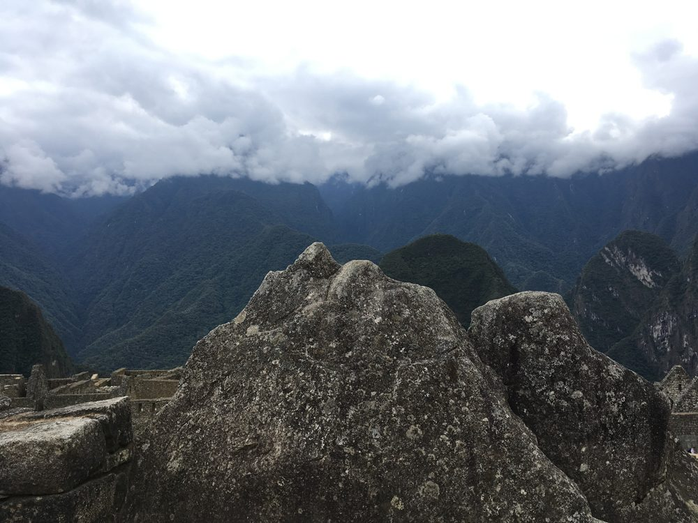 Aren Bergstrom - The stones are carved to resemble the mountain backdrop, Machu Picchu, Peru