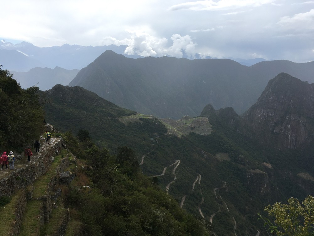 Aren Bergstrom - View of Machu Picchu and Huayna Picchu from the Sun Gate, Peru