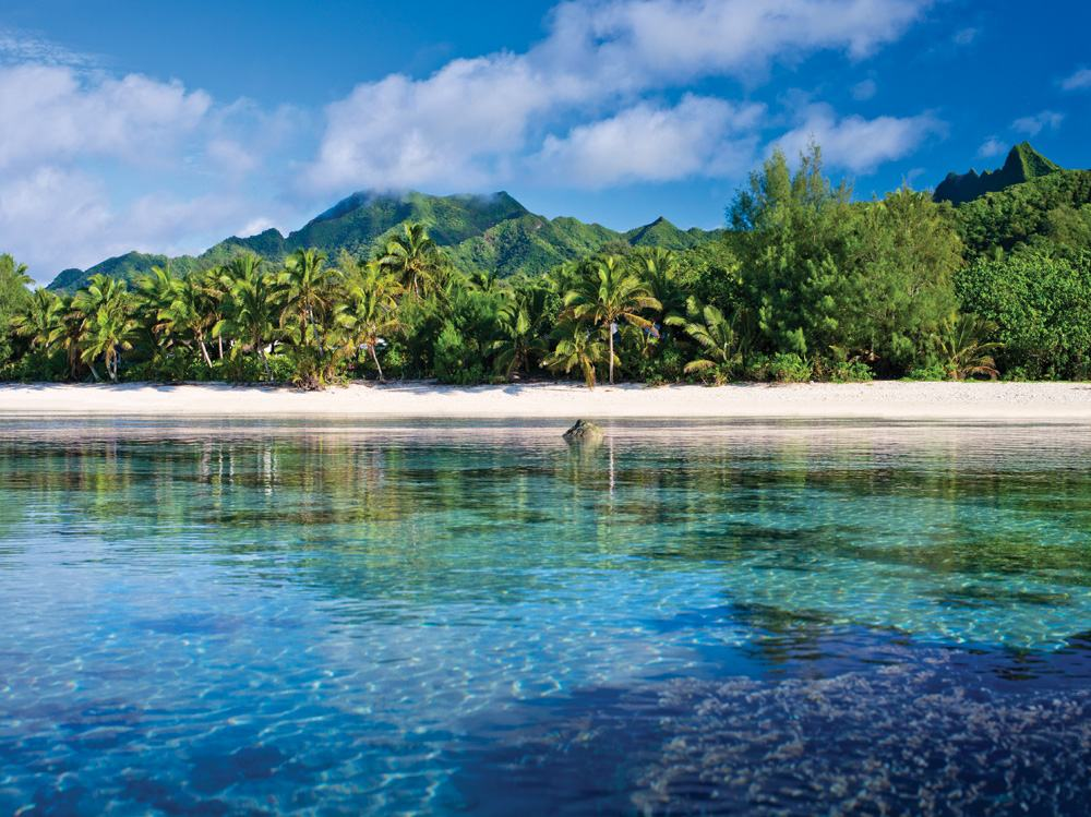 Beach on Rarotonga, Cook Islands - CITC