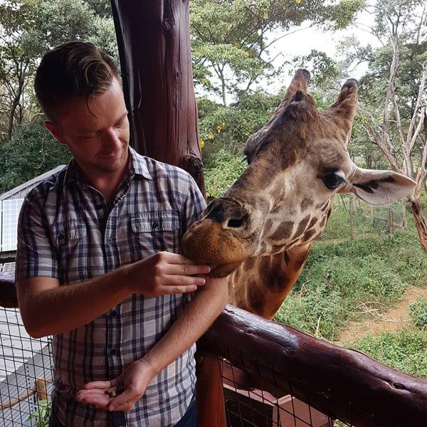 Christian Baines - Lunch is served at the Giraffe Centre, Nairobi, Kenya