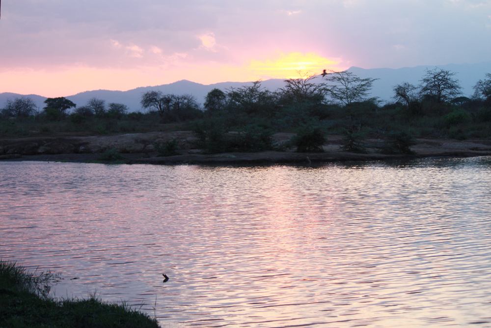 Christian Baines - Sunset over the dam, Tsavo, Kenya 384