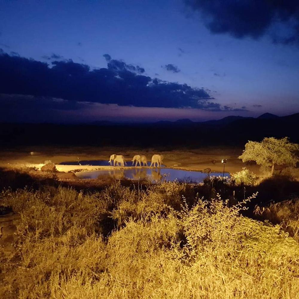 Christian Baines - The colours of sunset in Tsavo, Kenya P2