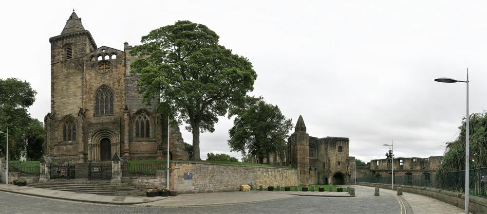 Dunfermline Palace and Abbey ruins near Edinburgh, Scotland