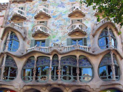 Facade of Casa Batllo, Barcelona, Spain