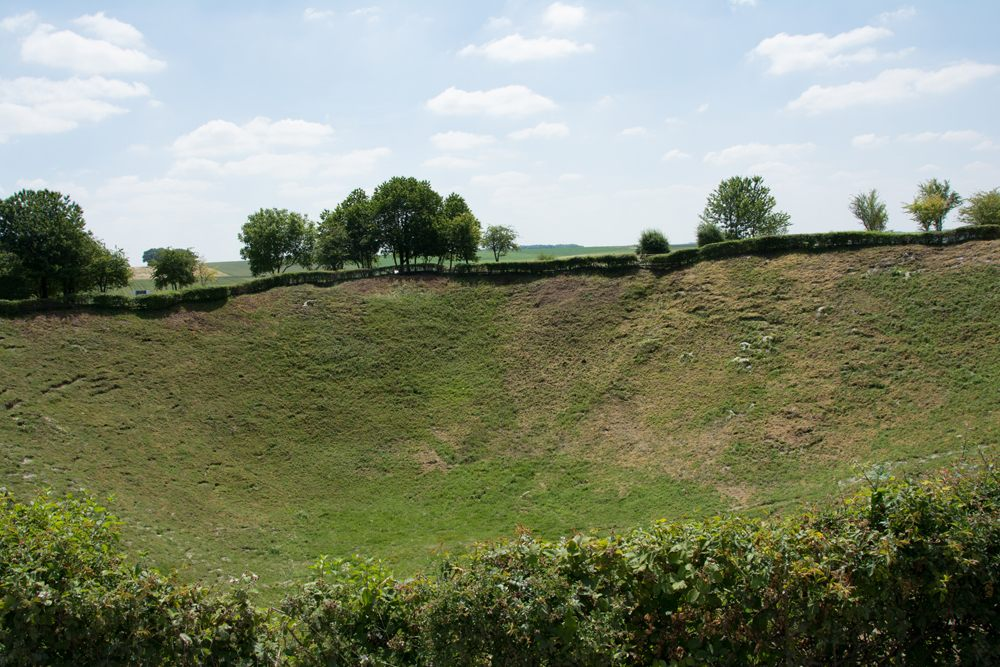 Lochnagar Mine Crater near Albert, France