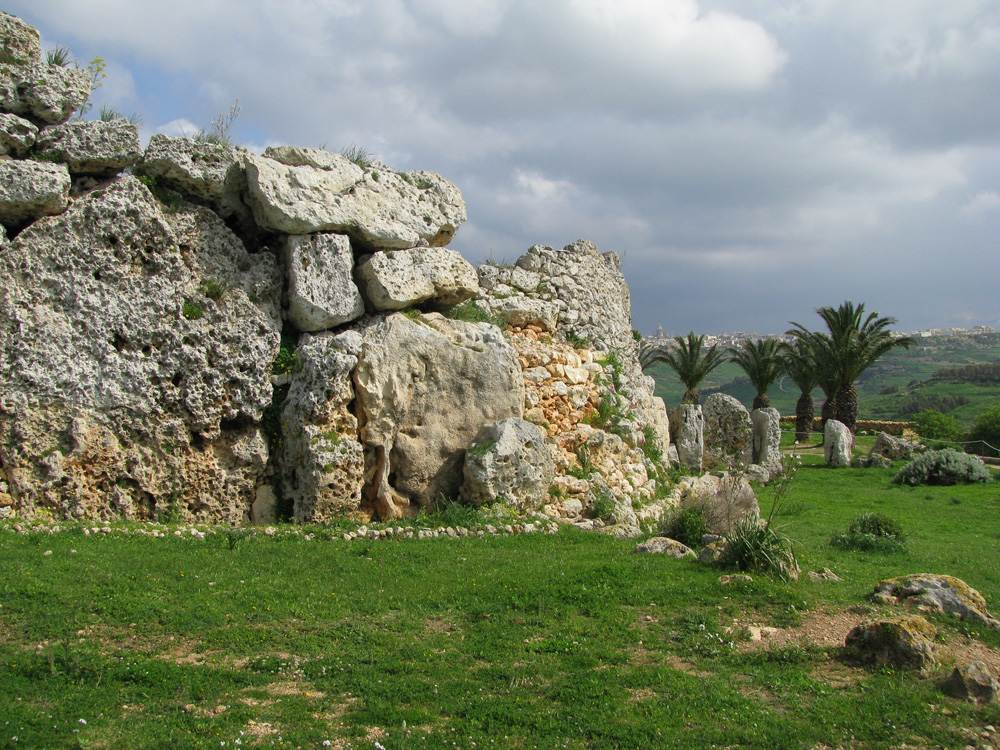 Megalithic ruins at Ggantija Temples in Gozo, Malta