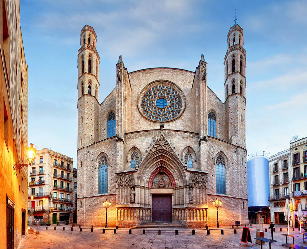 Santa Maria del Mar church in Barcelona, Spain