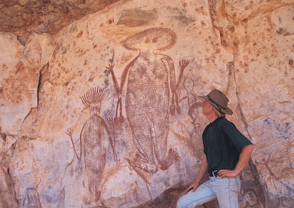 Aboriginal rock art in Arnhem Land, Northern Territory, Australia
