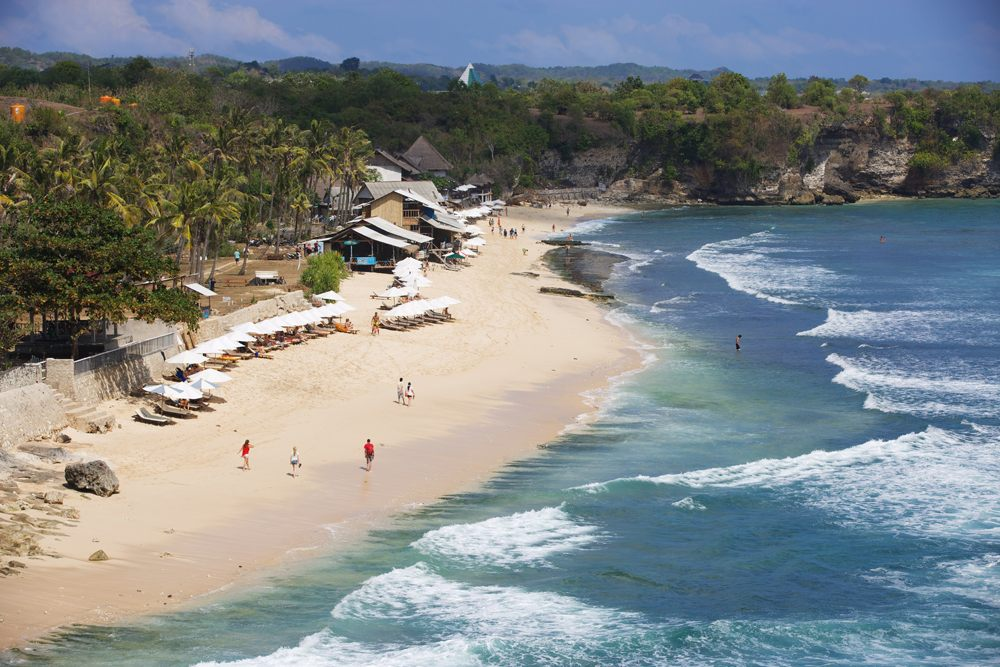 Aerial view of Balangan Beach in Bali, Indonesia