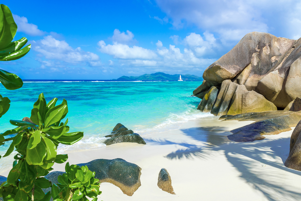 Anse Source d'Argent Beach on island of La Digue, Seychelles