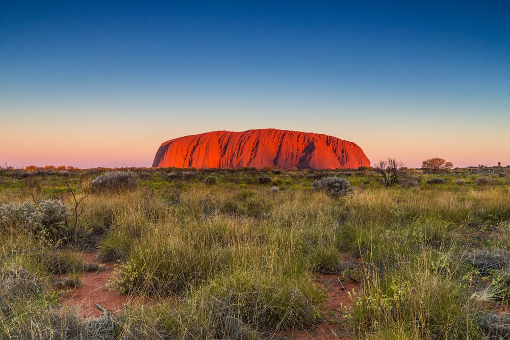 Ayers Rock (Uluru) in the Northern Territory, Australia