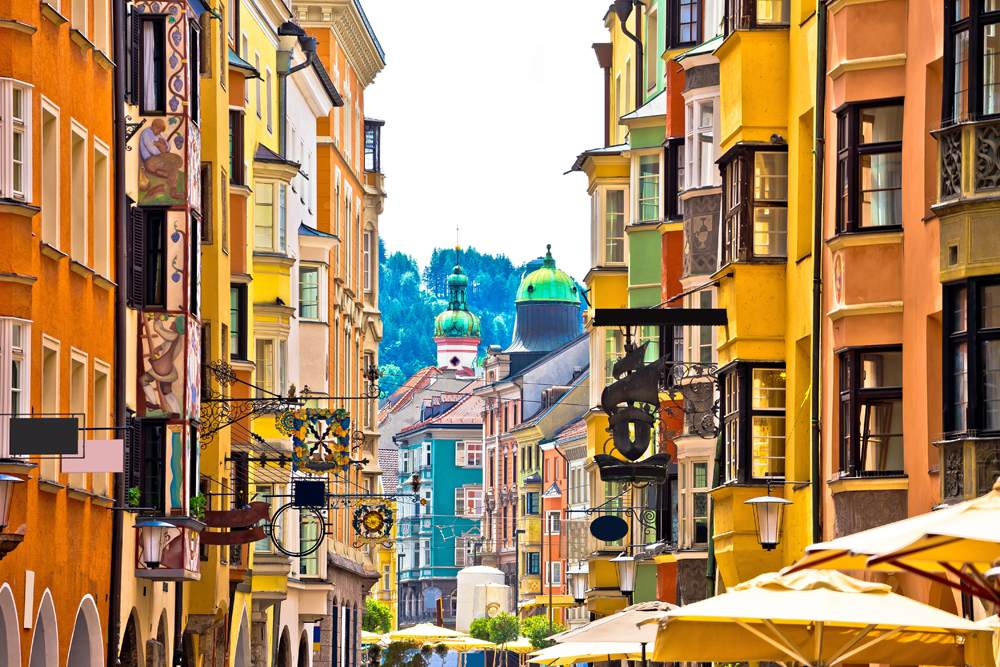Historic street of Innsbruck, Austria
