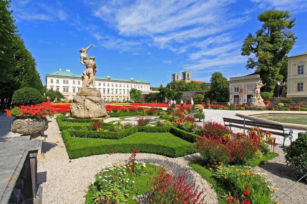 Mirabell Palace and garden in the summer, Salzburg, Austria