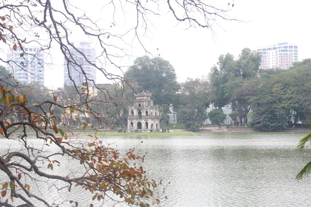 Sword Lake in Autumn, Hanoi, Vietnam