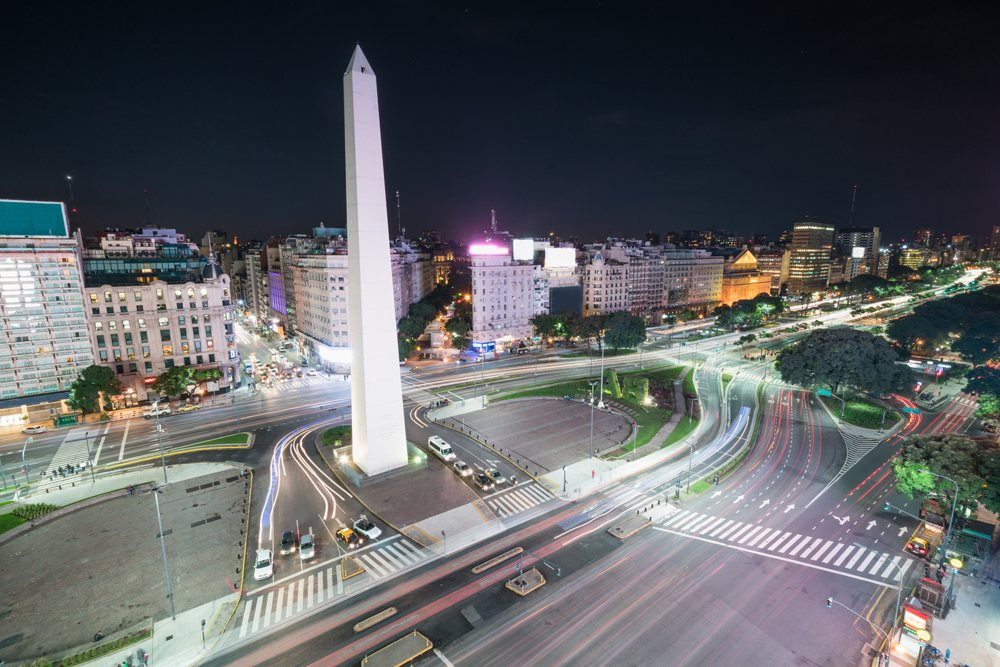 The Obelisk in Buenos Aires, Argentina