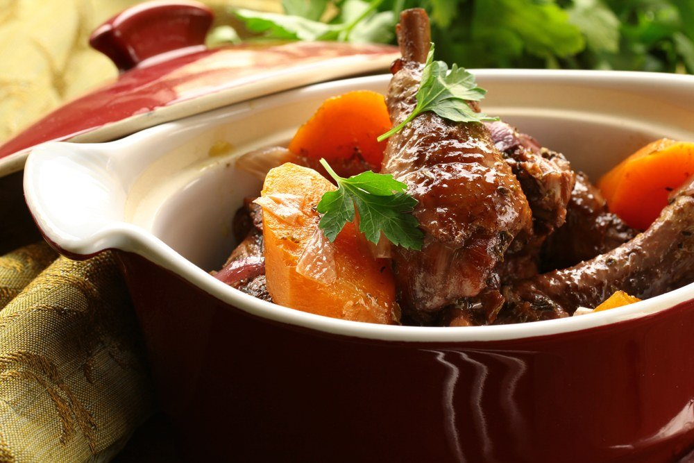 Traditional French cuisine, coq au vin, France