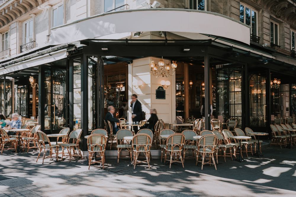 Typical Parisian cafe, Paris, France