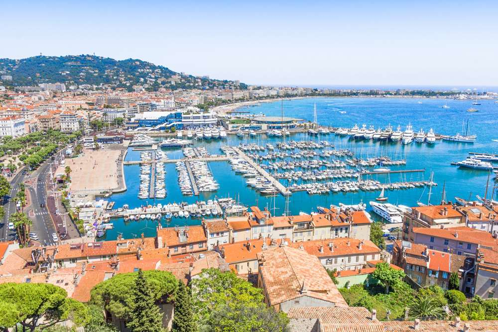 Aerial view of Cannes, France