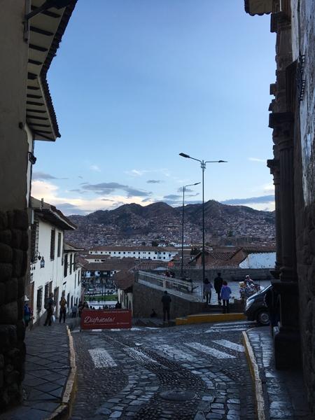 Aren Bergstrom - View of the hillside from above Plaza de Armas, Cusco, Peru