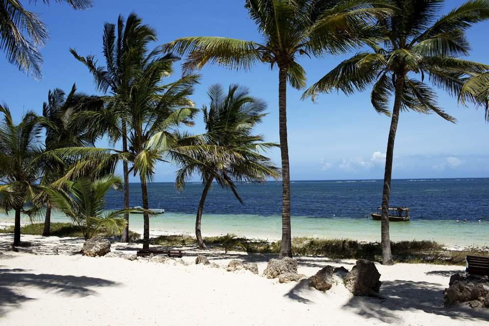 Beautiful Diani Beach in Mombasa, Kenya