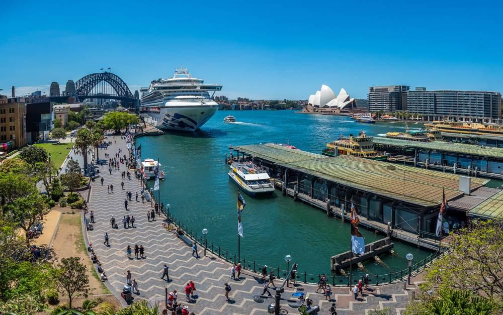 Busy Circular Quay in Sydney, Australia