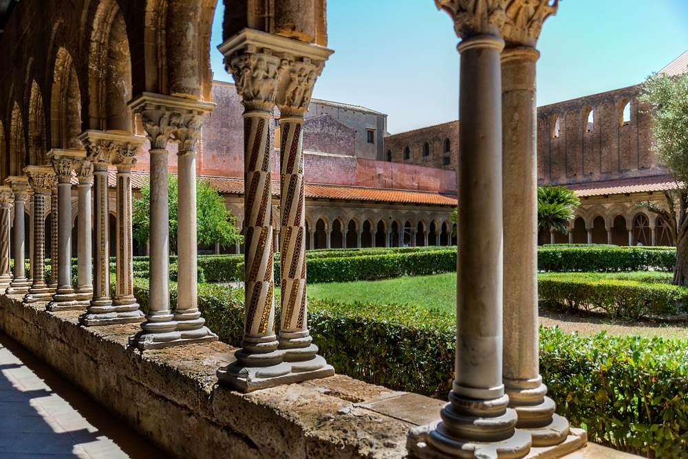 Cloister of the Duomo di Monreale, Sicily, Italy