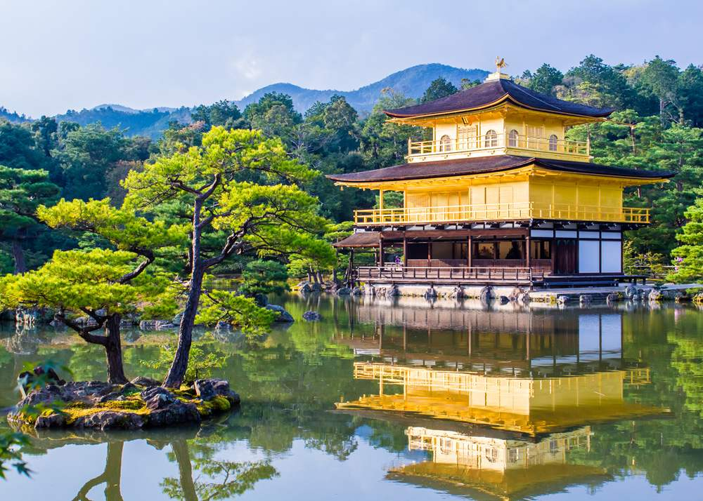 Kinkaku-ji, the Golden Pavilion, Zen Buddhist temple in Kyoto, Japan