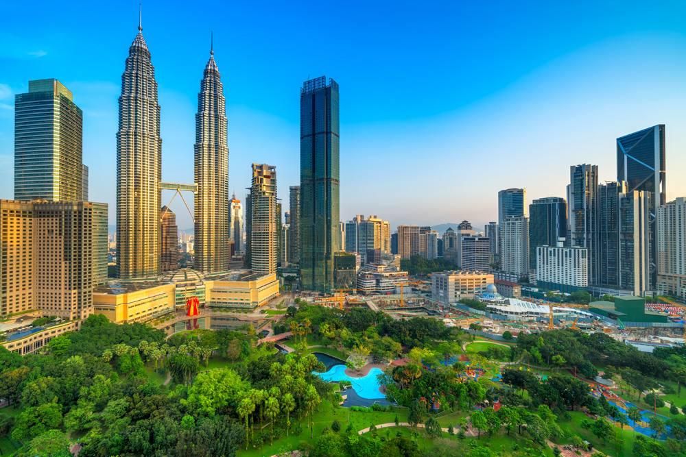 Kuala Lumpur skyline with Petronas Towers, Malaysia