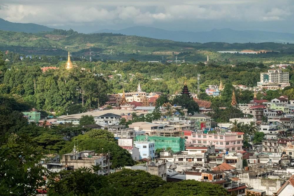 Landscape of Tachileik, the border town of Myanmar between Chiang Rai province of Thailand, Myanmar