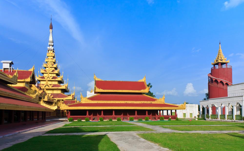 Mandalay Palace in Mandalay, Myanmar
