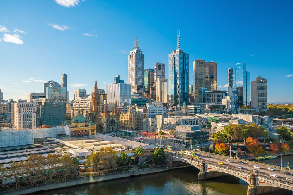 Melbourne city skyline, Australia