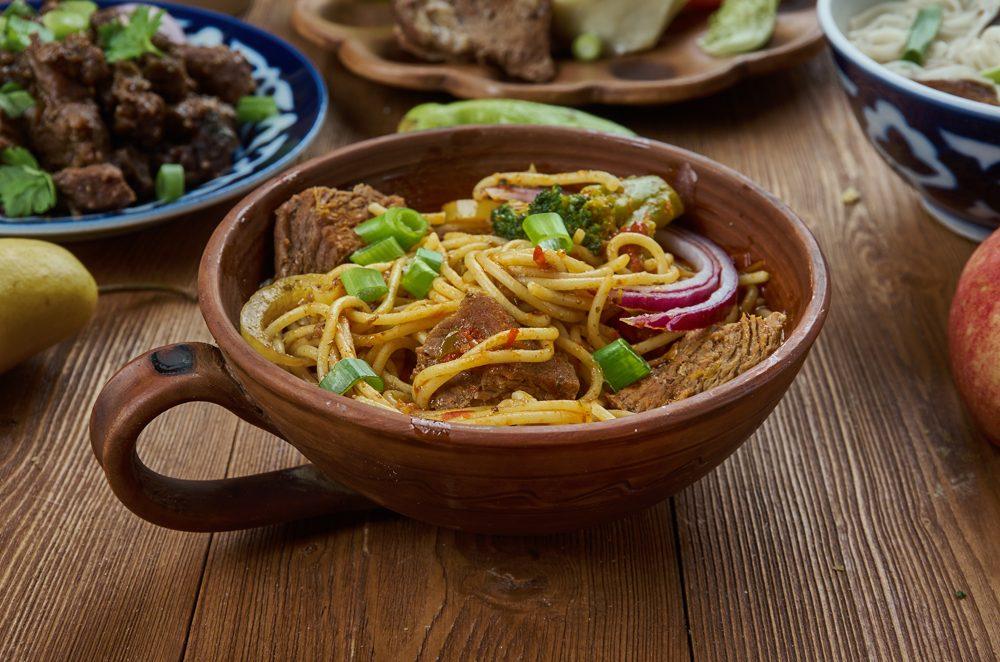 Mongolian beef ramen, China