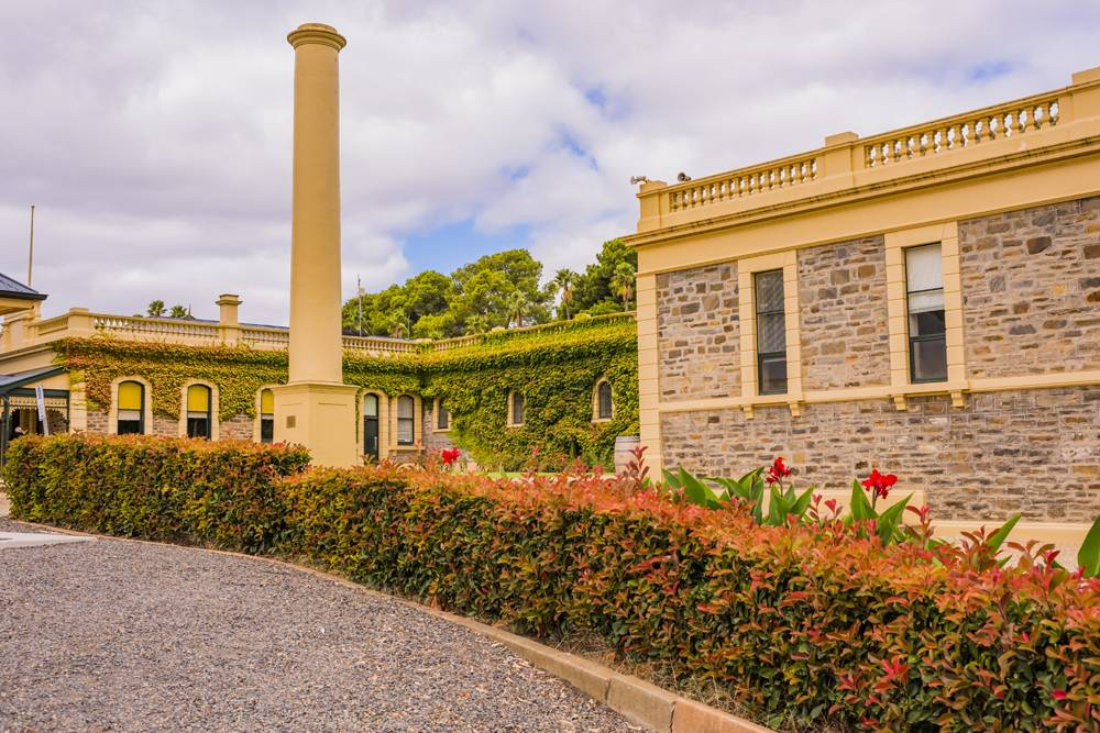 Old column at Seppeltsfield Winery, Barossa Valley, South Australia, Australia