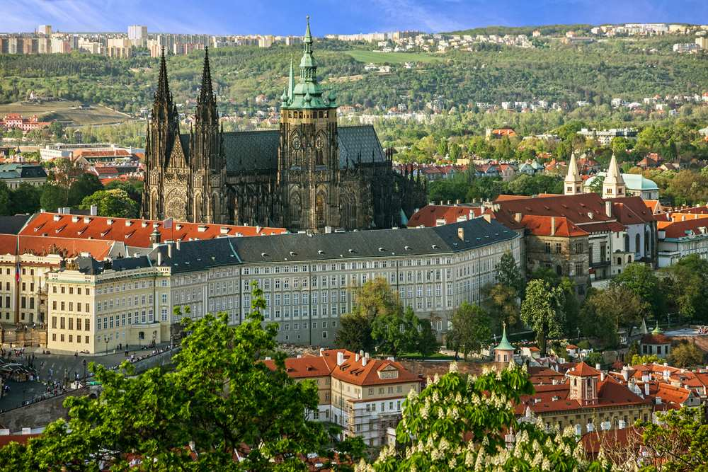 Prague Castle and Saint Vitus Cathedral, Prague, Czech Republic