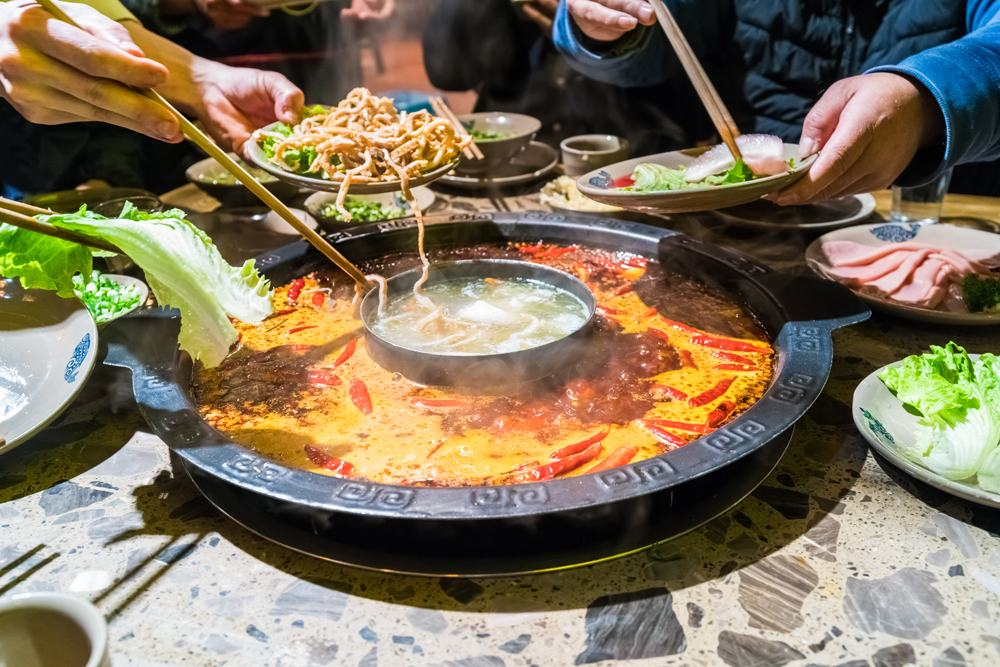 Sichuan hot pot, China