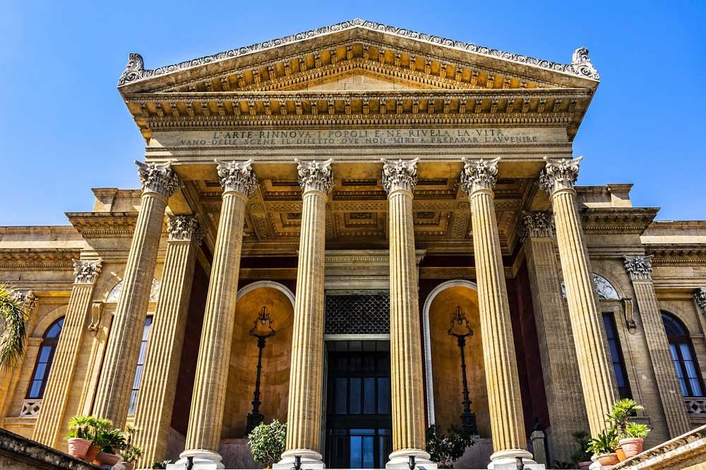 Teatro Massimo at Piazza Verdi in Palermo, Sicily, Italy