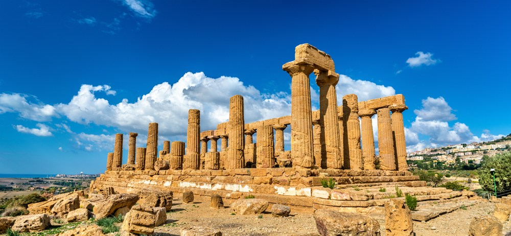 Temple of Juno in the Valley of the Temples at Agrigento, Sicily, Italy