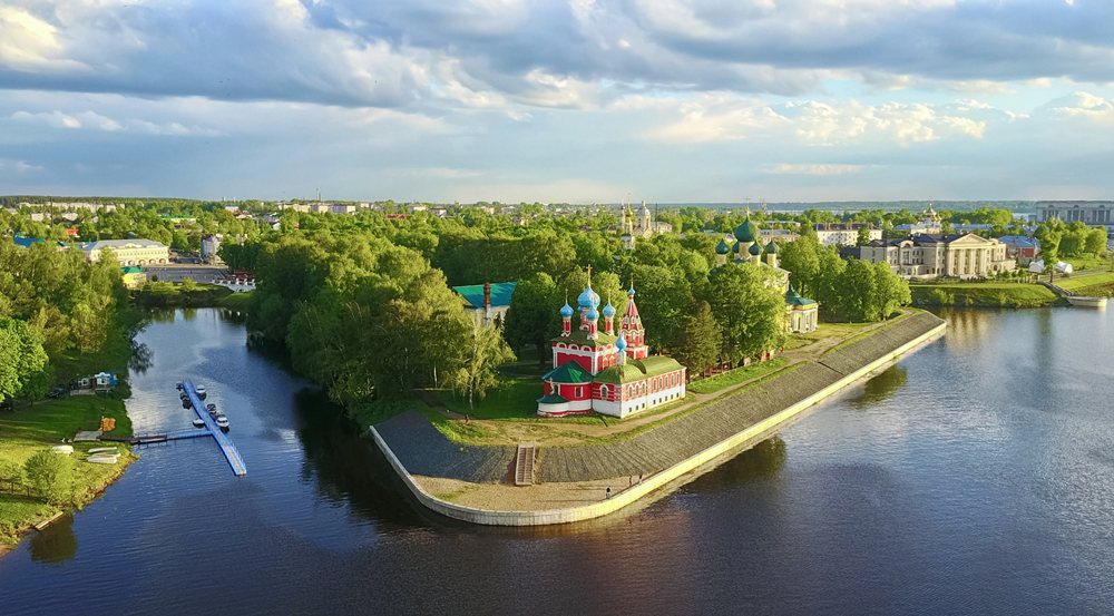 Uglich Kremlin complex in the historic centre located on the right bank of the Volga River, Uglich, Russia