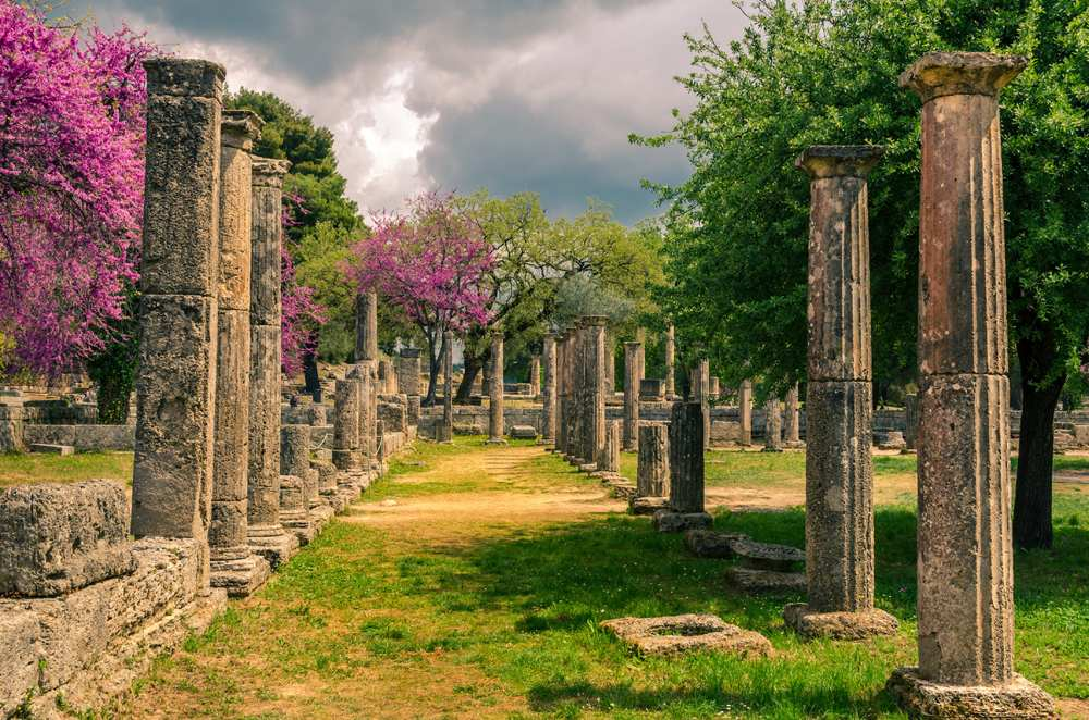 Archaeological site of ancient Olympia, Peloponnese, Greece