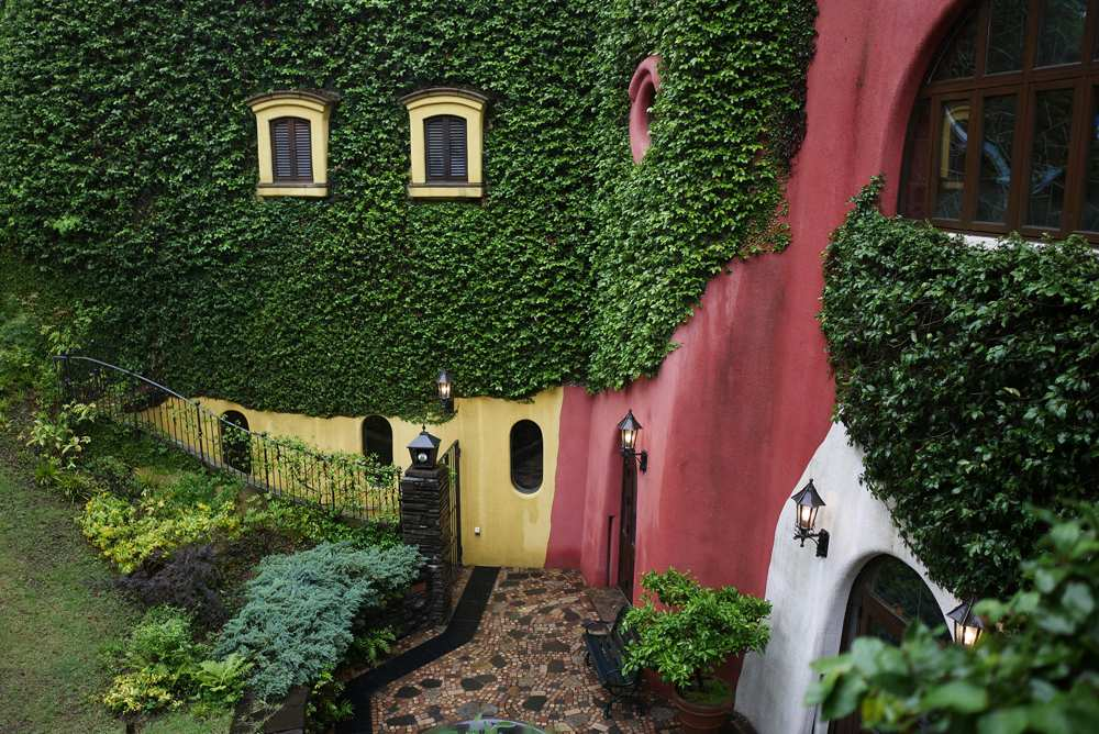 Colourful exterior of Ghibli Museum, Mitaka, Japan