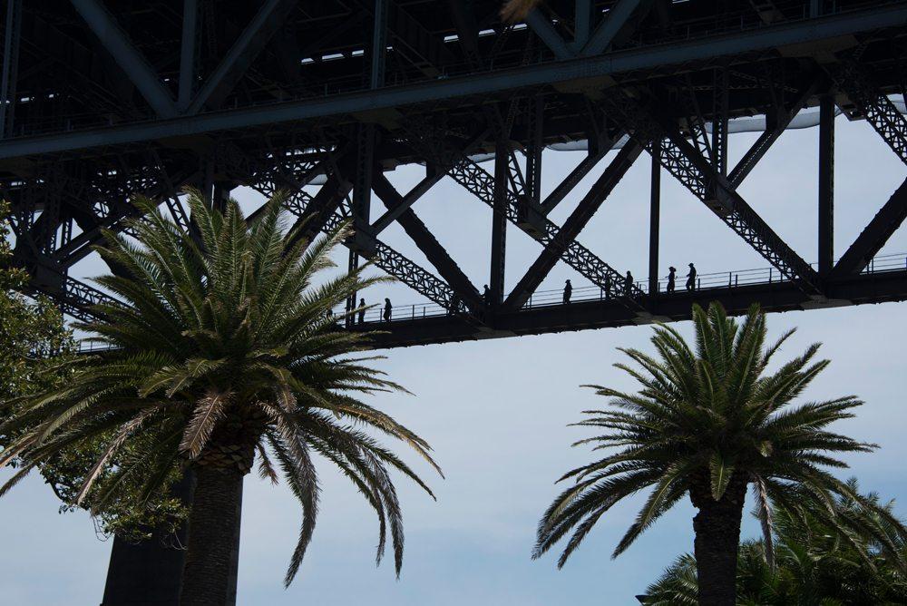 Lower walkway on Sydney Harbour Bridge, Sydney, Australia