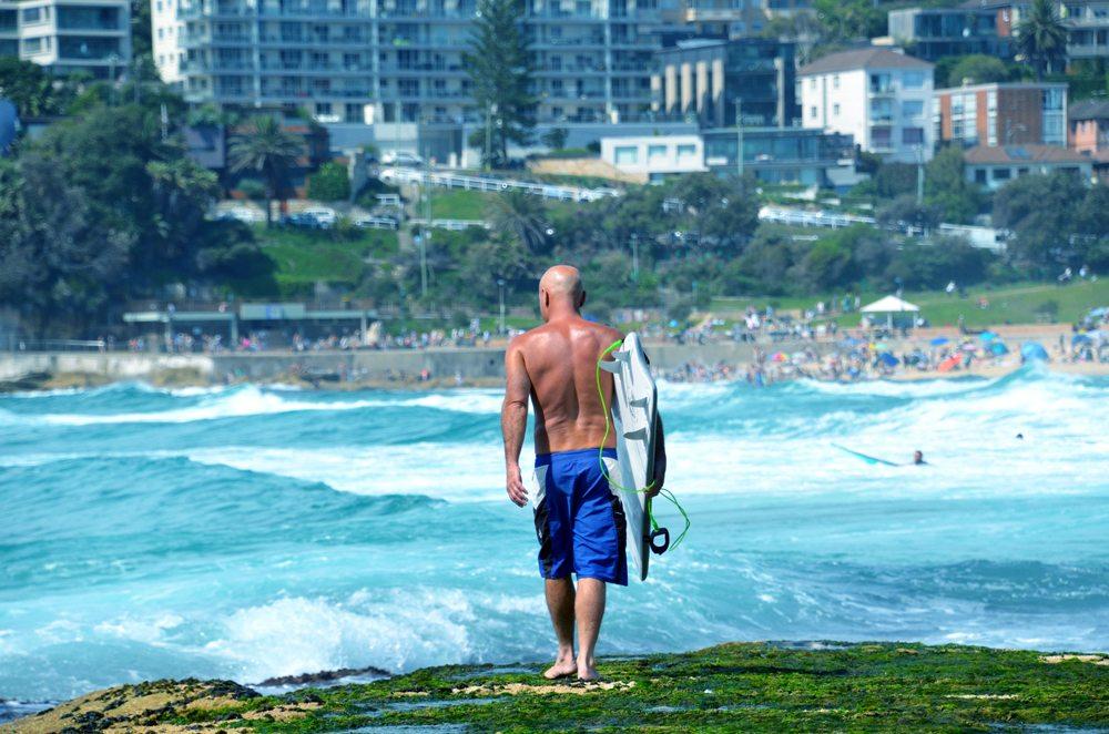 Surfer at Bondi Beach, Sydney, Australia