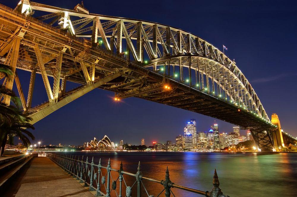 Sydney Harbour Bridge at night, Sydney, Australia