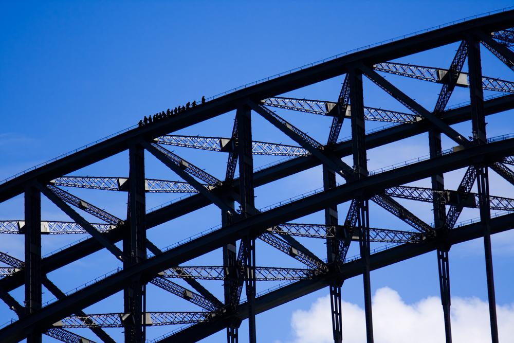 Sydney Harbour Bridge climbers, Sydney, Australia