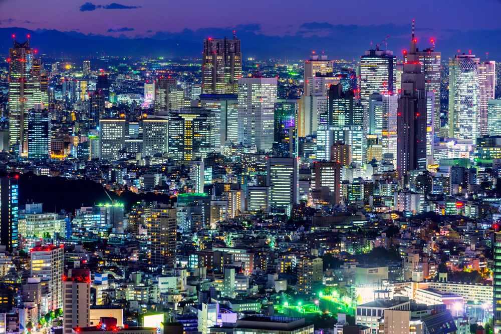 Tokyo skyline in Shinjuku district, Japan
